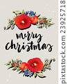 watercolor, christmas, greeting 23925718
