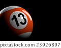Pool Ball Number 13, 3D Rendering 23926897