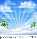 Christmas Snow Winter Background 23927976