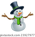 Cartoon Christmas Snowman 23927977