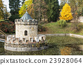 Turret in Bojnice, Slovakia, autumn park 23928064