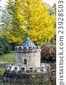 Turret in Bojnice, Slovakia, autumn park 23928503