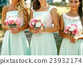 The bouquets  for bridesmaids 23932174