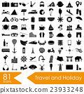 travel and holiday big set of vector icons eps10 23933248