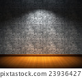 Brick wall with spotlight 23936427