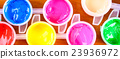 set of colorful paints close-up 23936972