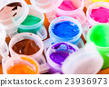 set of colorful paints close-up 23936973