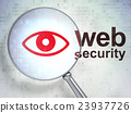 Security concept: Eye and Web Security with 23937726