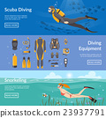 Diving And Snorkeling Horizontal Banners 23937791