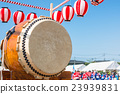 夏祭 太鼓 紙燈籠 23939831