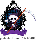 Cartoon Grim Reaper Pointing 23940081