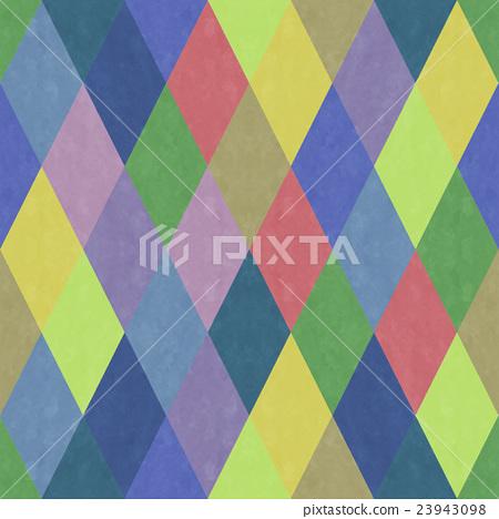 세련되고 감촉의 세련된 색조의 화려한 다이아몬드 무늬 원활한 (연속 · 이어지는) 패턴 배경 소재 23943098