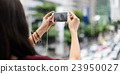Woman Rear View Photography Traveling City Life Concept 23950027
