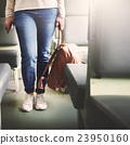 Asian Lady Traveling Commute Train Concept 23950160