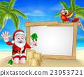 Beach Christmas Santa 23953721