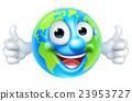 Earth Day Thumbs Up Mascot Cartoon Character 23953727