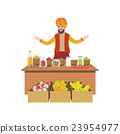 MAn Selling Spices On Indian Market 23954977