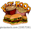 Fast food elements for design 23957391