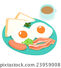 Breakfast and hot coffee vector illustration 23959008