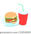 Hamburger and soft drink vector illustration 23959009