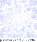 Vector background with snowflakes blue 23959963
