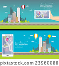 City internet navigation concept web banner. 23960088
