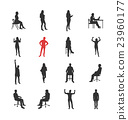 People, male, female silhouettes in different 23960177