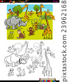 safari animals coloring page 23962168