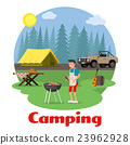 Camping and outdoor recreation concept 23962928