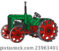 Vintage green tractor 23963401