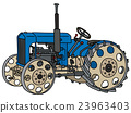Vintage blue tractor 23963403