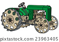 Vintage green tractor 23963405
