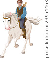 Prince Charming riding on a horse 23964463
