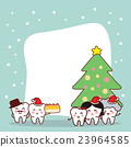 christmas and snow with tooth 23964585