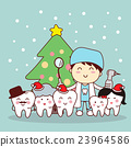 christmas and snow with tooth 23964586