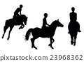 vector man on horseback isolated white background 23968362