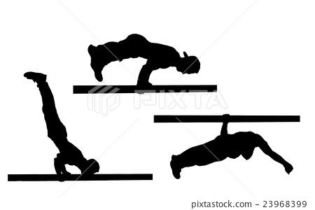 Stock Illustration: street workout isolated