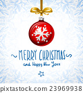 Merry Christmas, and Happy New Year Card  23969938