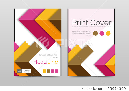 Business annual report brochure cover vector 23974300