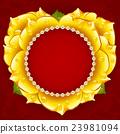 Vector yellow Rose heart 23981094