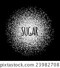 Sugar made of white dots. 23982708
