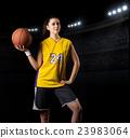 Young girl basketball player 23983064
