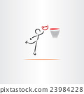 man playing basketball vector icon illustration 23984228