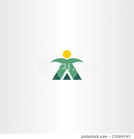 mountain man mountaineer icon vector logo 23984245