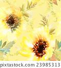 Sunflowers seamless pattern 23985313