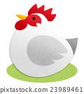 雞 公雞 新年賀卡材料 23989461