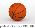Basketball Ball Isolated on White, 3D Rendering 23990184