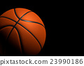 Basketball Ball on Black Background, 3D Rendering 23990186