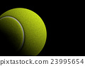 Tennis Ball on Black Background, 3D Rendering 23995654