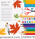 Back to school. Stationary graphic template 23996978